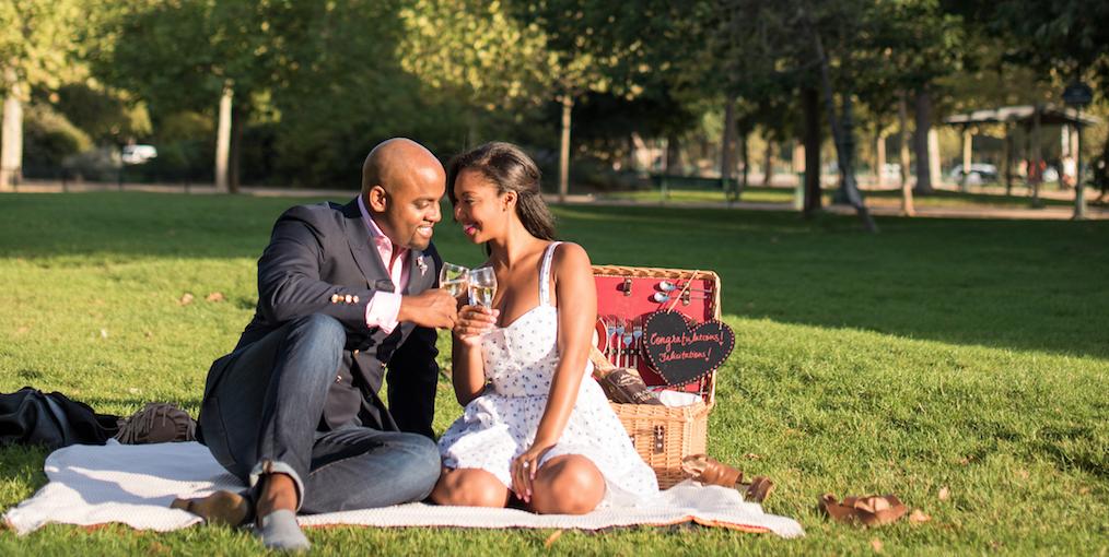 Brandon's Romantic Surprise Proposal and Picnic for Portia